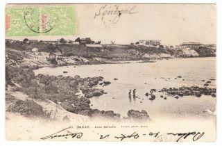 Senegal Dakar Anse Bernard Postcard Mailed To Belgium 1903 Cover photo