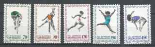 San Marino 987 - 91,  Summer Olympics 1980,  (cv=$1.  65) photo