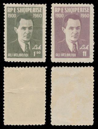 Albania 1960 Scott 579 - 580 (mi 617 - 618) Ali Kelmendi photo