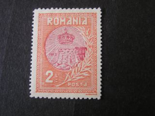 Romania,  Scott 239,  2lei.  Value 1913 Romania Annexation Of Silestra Issue Mh photo