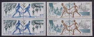 Monaco 1992 Olympics 2 - 2 Pair Strips Fresh. photo