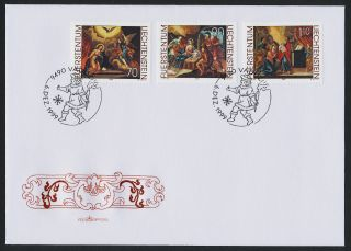 Liechtenstein 1160 - 2 Fdc Christmas,  Art photo