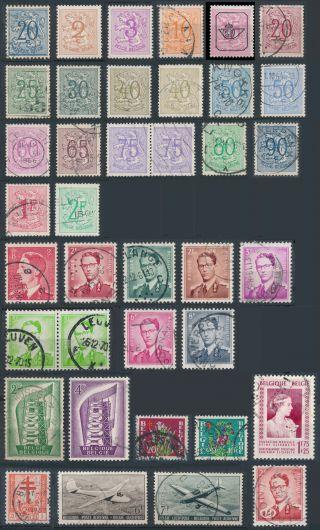Belgium 1950 - 73 Scott 402//421,  496 - 7,  B485,  B487,  B499,  C13 - C14,  O57 More photo