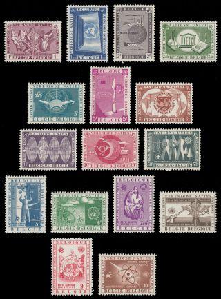 Belgium 1958 - 1959 Sc 516 - 525,  C15 - C20; 526,  527 - 528,  536 - 537 Un Europa photo