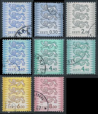 Estonia 1999 - 2003 Scott 372 - 3,  376 - 378,  380,  382c,  382e Three Lions photo