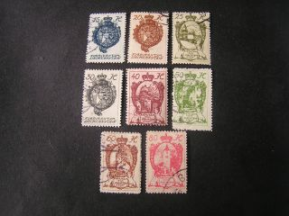 Liechtenstein,  Scott 34 - 41 (8),  1920 Coat Of Arms Issue photo