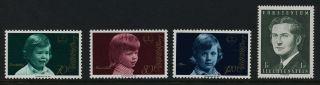 Liechtenstein 553 - 6 Prince Constantin,  Maximilian,  Alois,  Hans Adam photo