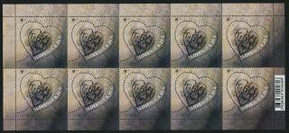 Slovenia 930 (mi945) Sheet Valentine ' S Day,  Heart photo