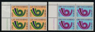 San Marino 802 - 3 Tl Block Europa photo