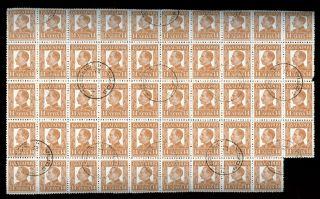 Bulgaria 1931,  14l King Boris Iii,  Block Of 49 Cto S641 photo