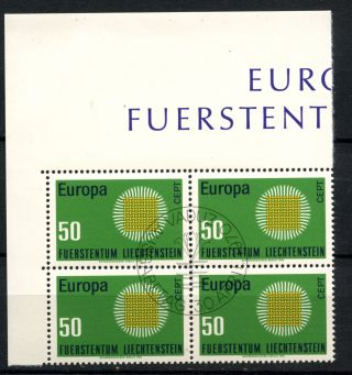 Liechtenstein 1970 Sg 523 Europa Cto Block A50803 photo