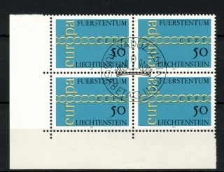 Liechtenstein 1971 Sg 536 Europa Cto Block A50807 photo