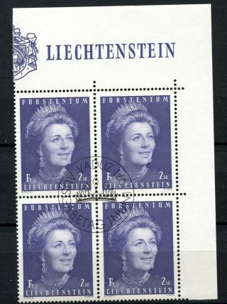 Liechtenstein 1971 Sg 526a Princess Gina Cto Block Cat £10 A50810 photo