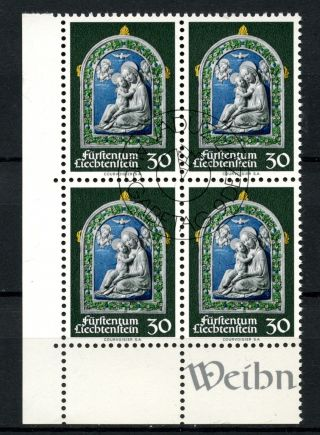 Liechtenstein 1971 Sg 543 Christmas Cto Block A50805 photo