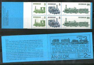 Sweden 1975 Steam Locomotives Complete Booklet photo