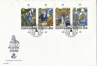 Sweden 1986 Stockholmia Miniature Sheet Unaddressed First Day Cover Shs photo