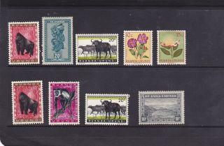 Rwanda Burundi Mixed Topical Animals Botanical ' S Multiples Older Issues Mlh Mhr photo