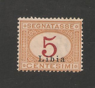 Libya J1 Vf Og - 1915 5c Italian Postage Due - Scv $2.  50 photo