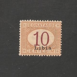 Libya J2 Vf Og - 1915 10c Italian Postage Due - Scv $2.  50 photo