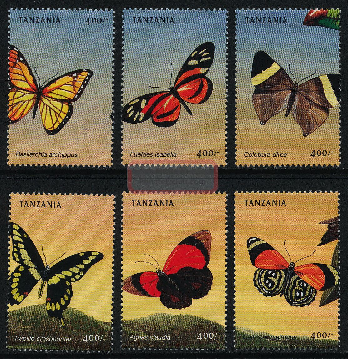 Tanzania 1966a - F Insects,  Butterflies Africa photo