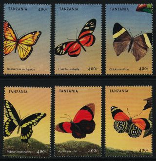 Tanzania 1966a - F Insects,  Butterflies photo