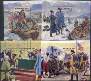 Liberia 911,  22,  32,  43 Horses,  Cannon,  Flag,  Boat photo