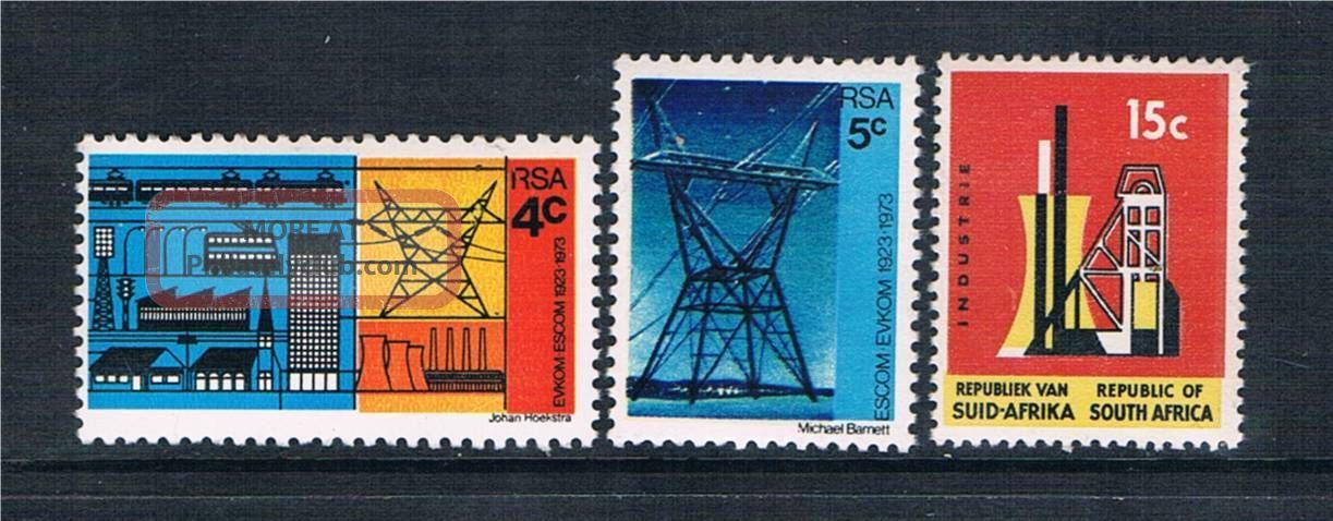 South Africa 1973 50th Anniv.  Of Escom Sg 326/8 Africa photo