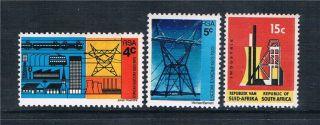 South Africa 1973 50th Anniv.  Of Escom Sg 326/8 photo