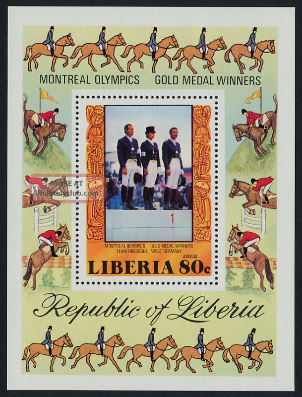 Liberia C217 Equestrian Horses,  Sports Africa photo