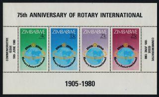 Zimbabwe 432a Rotary International,  Map photo