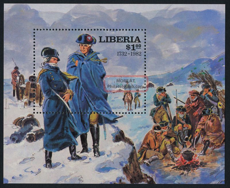 Liberia 922 Horse,  Washington At Valley Forge Africa photo