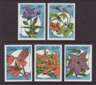 Congo Flowers 1016 - 1020 Vf (12984) photo