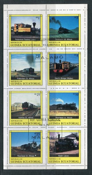 Africa,  Equatorial Guinea,  Locomotives. photo