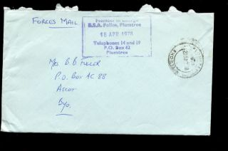 Rhodesia 1978 Bsa Police Official Cover Plumtree photo