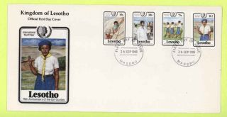 Lesotho 1981 Girl Guides First Day Cover photo