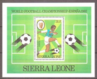 Sierra Leone Sgms706 1982 World Cup Football Sheet photo