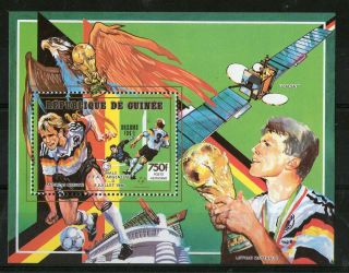 Republic Of Guinea Football World Cup Italy 1990 Miniature Sheet (a) photo