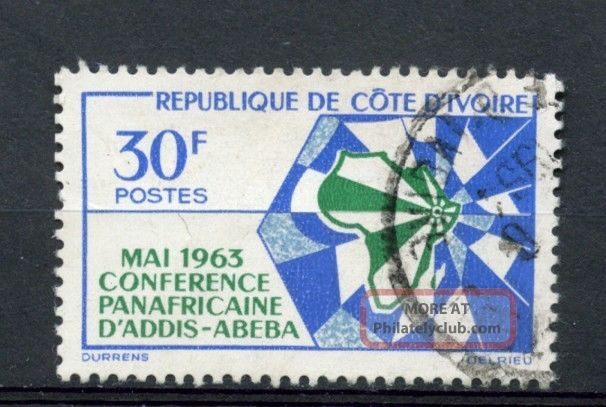Ivory Coast 1963 Sg 222 African Heads Of State A27046 Africa photo