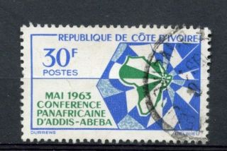 Ivory Coast 1963 Sg 222 African Heads Of State A27046 photo