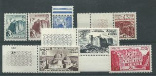 Tunisia - 1954 - Sg372 Sg373 Sg377 Sg378 Sg379 Sg381 & Sg385 - Cv £ 20.  75 photo