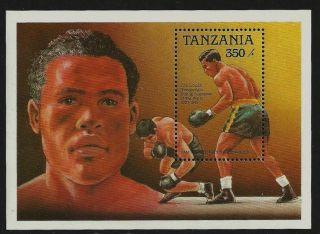 Tanzania 1989 Sport Boxing Joe Louis World Champion M/sheet photo