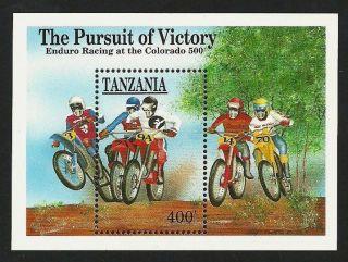 Tanzania 1991 Sport Colorado Motor Cycle Race Motorbikes M/sheet photo