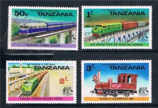 Tanzania 1976 Railway Transport Sg 187/90 photo