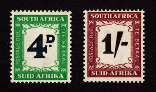 South Africa/suid - Afrika Scott J43,  J45 Mh - Postage Due - 1958 photo