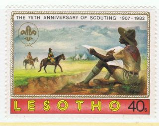 Lesotho 1982 75th Anniversary Of Scouting Issue - Nh photo