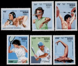Benin 734 - 40 Sports,  Olympics,  Tennis,  Baseball,  Diving,  Swimming photo
