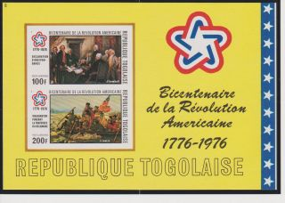 Togo American Bicentenial Imperf.  S/s Scott C273a photo