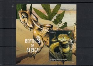 Ghana 2013 Reptiles Of Africa Ii 1v S/s Snakes Mozambique Spitting Cobra photo