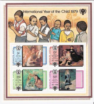 Swaziland 1979 Intl.  Year Of Child S/s (sc 328a) photo