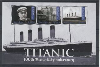 Sierra Leone 2012 Rms Titanic 100th Memorial Anniversary 3v Sheet Jp Morgan photo